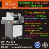 PLC LIVRE DE BORD BLOC Push automatique 80mm de hauteur de 490mm A3 A4 industriels guillotine Machine de découpe de papier