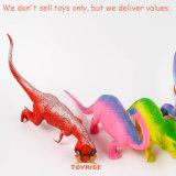 Jouets de Triceratops de rapace de Stegosaurus réglés par jouet en plastique réaliste de Dino - pour les gosses DEL par - Trex et de dinosaur de Spinosaurus pour les enfants 3+ - cheminée apprenant des jouets - 4