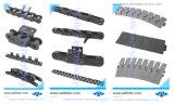 Paso corto de acero inoxidable, Cadenas de rodillos estándar DIN8187 DIN8188, las filas de simple/doble
