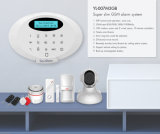 無線センサーおよび探知器が付いている新しく美しいデザインGSMの警報システム