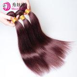 自然な未加工バージンのマレーシアの毛の巻き毛の織り方の卸売のRemy赤いマレーシアの人間の毛髪