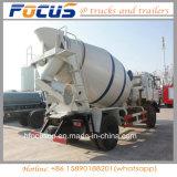 대형 트럭 8 Cbm 양 교반기 유조선/구체 믹서 유조 트럭