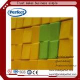 Painel de parede acústico do painel da fibra de poliéster da isolação sadia