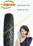 (90/90-18 90/90-17)中国の工場製造のオートバイのタイヤ