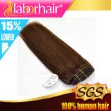 Prolongation humaine Lbh 051 de cheveux de Vierge de couleur brun clair indienne de Remy