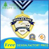 Fancy Corner Kraft Cup Customized Token Metal Pinstar Medal Free Design
