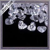 Zirconia cúbica bonita para forma de coração para jóias