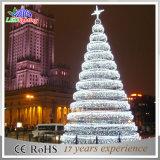Свет рождественской елки белизны СИД напольной конструкции структуры шарика теплый