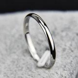 티타늄 강철 로즈 금 반대로 알레르기 매끄러운 간단한 결혼식은 반지를 결합한다