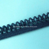 elastico delle condutture del bordo del merletto dello smerlo di colore personalizzato Crochet di 11mm