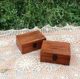 [رتروينغ] صنوبر [ووودن بوإكس] خشبيّة شاي صندوق مع غطاء زجاجيّة