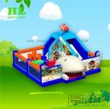 Castello rimbalzante gonfiabile di salto tagliente blu della trasparenza di Funcity della Camera per i capretti