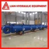 Tipo médio personalizado cilindro hidráulico do pistão da pressão com aço de carbono