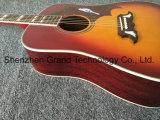 Cherry sunburst colombe de la guitare acoustique avec les ramasseurs Fishman 301 (DG-1)