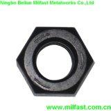 Les écrous hexagonaux lourd Sturctural avec finition noire (ASTM A563)