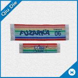 Etiqueta de tecidos personalizados de alta qualidade com cores ricas