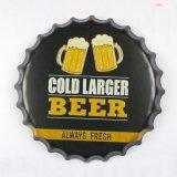 Venta caliente Custom Bottle Cap Cervecería de Diseño de impresión de signo de estaño Repujado