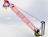 Fil hydraulique Luffing Lattice Boom Marine les grues de pont