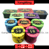 Acrylschürhaken-Chips stellten für Kasino-spielenden Tisch der Spieler-5-8 mit erstklassigem bronzierendem Chipset des Kasino-760PCS ein (YM-LCTJ003)