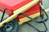 Asa quadrada pega de madeira EUA Wheelbarrow familiares