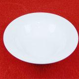 Piatto bianco impresso di ceramica poco costoso dell'insieme di pranzo