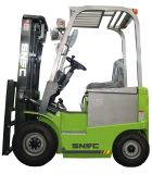 Forklift de Electrick Capasity 1500 com mastro Triplex