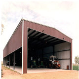 Gruppo di lavoro prefabbricato chiaro del capannone della struttura d'acciaio