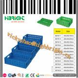 スタック可能およびFoldable頑丈なプラスチックパレットボックス