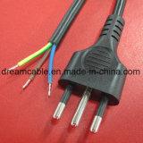 cable eléctrico italiano Imq de la aprobación negra del 1.5m con IEC C5