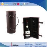 De met de hand gemaakte In het groot Draagbare Doos van de Wijn van de Fles van de Cilinder Enige (6469R1)