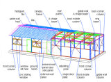 Панельный дом стальной структуры Antiseismatic пожаробезопасный