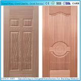 Piel moldeada fabricación de la puerta de HDF con la nuez y la chapa oscuras naturales de Sapelli