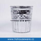 Diamond Slivery bougeoir en verre