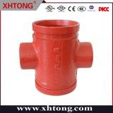 UL epoxi de FM de hierro dúctil roscados de la reducción de la Cruz Accesorios para la lucha contra incendios, aire acondicionado, la remoción de tubo, el abastecimiento de agua