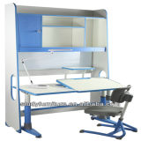 Mesa de Secretária de Estudantes de Metal e Plástico Comfortable