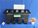 プラスチックフレームHEPA H13フィルターが付いているVバンクフィルター