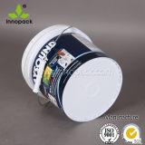La benna di plastica stampata della vernice da 1 gallone con strappa fuori il coperchio