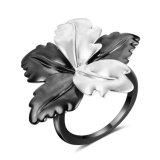 衣服のアクセサリ2の音色の白黒花の方法宝石類のカクテルのリング
