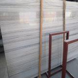 Laje de madeira de cristal natural do mármore da grão para telhas do assoalho/parede