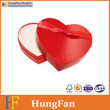 Подгонянная коробка форменный бумажного подарка сердца упаковывая с тесемкой