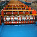 Roulis en acier formant la machine pour faire des tuiles de paquet d'étage