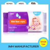 Wipe bagnato del bambino del prodotto del bambino della fabbrica senza alcool (BW007)