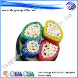 Elektrische Isolierung PVC-Hüllen-Nicht-Gepanzertes Leistung-Kabel des kupfernen Draht-XLPE