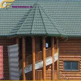 Pierre de tuiles du toit de tuiles en acier recouvert de bardeaux d'asphalte de feuille de toiture