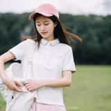 Ослепительно белый высокого качества женские рубашки поло