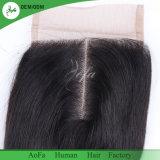 Qualidade superior de cabelo humano Virgem de fecho de cabelo humano da Malásia