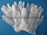 Одноразовые перчатки винил порошка для пищевой промышленности