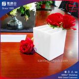 Cadre acrylique de luxe en gros de fleur avec 3 compartiments