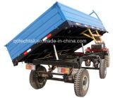 Mini rimorchio di trattore agricolo del deposito idraulico a quattro ruote
