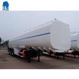 Алюминиевый корпус танкера с 46000 л резервуар для хранения сырой нефти Tri-Axle Полуприцепе